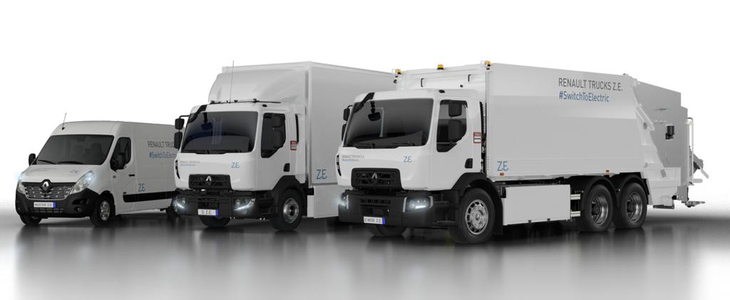Renault Trucks ZE range. Foto.